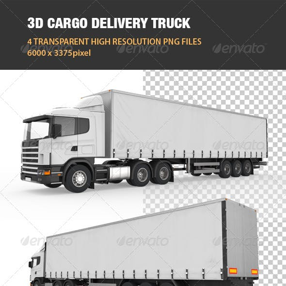 3D Cargo Delivery Truck