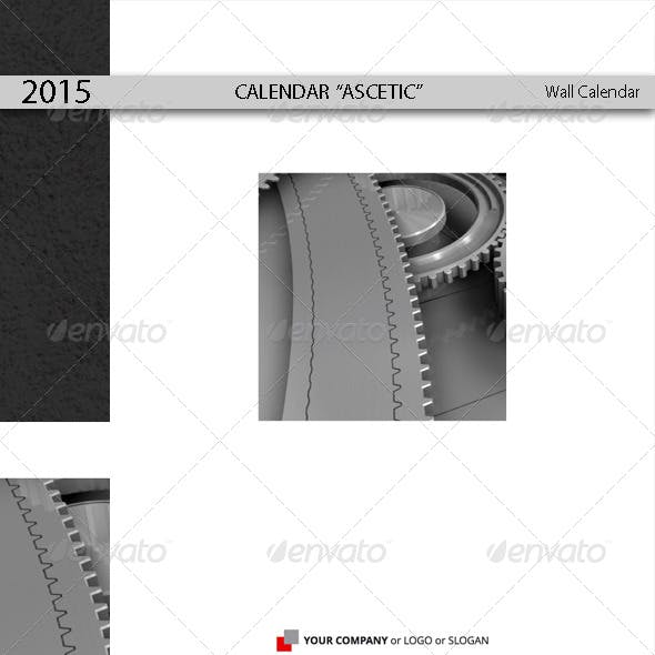 Calendar Template Ascetic 2015 (2014)