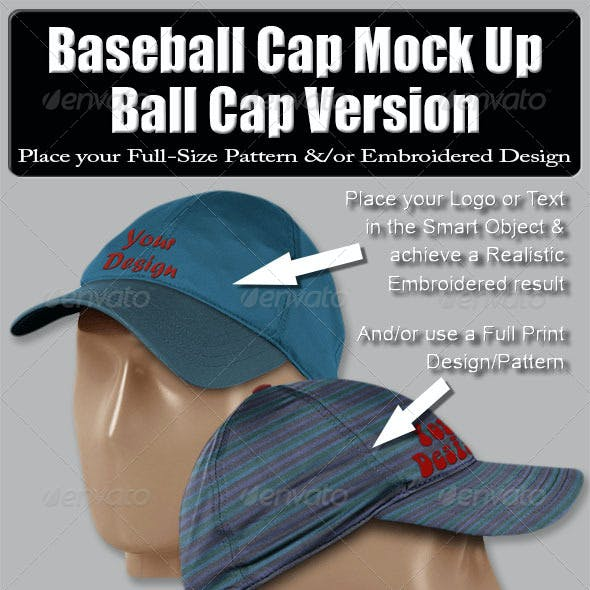 Baseball Cap Mock Up-Ball Cap Version