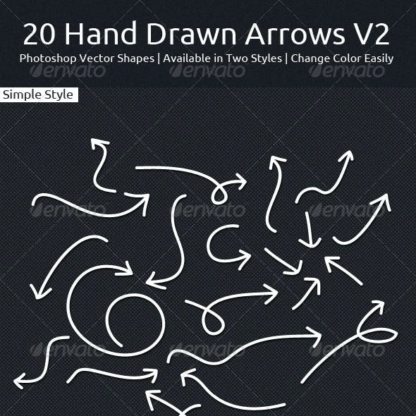 20 Hand Drawn Arrows V2