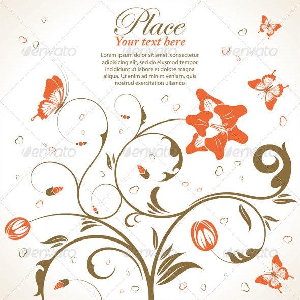 Flowers theme - Flourishes / Swirls Decorative