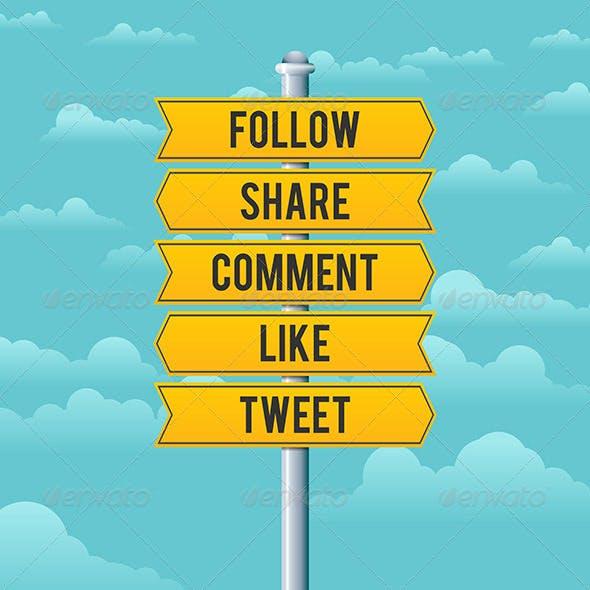 Social Media Road Signs
