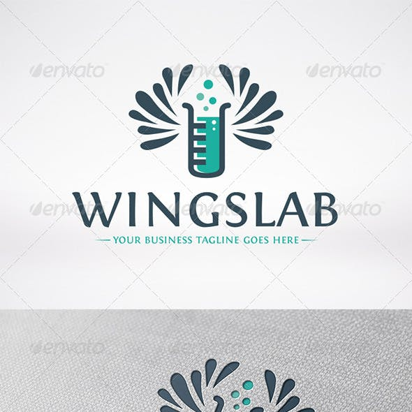 Lab Wings Logo Template