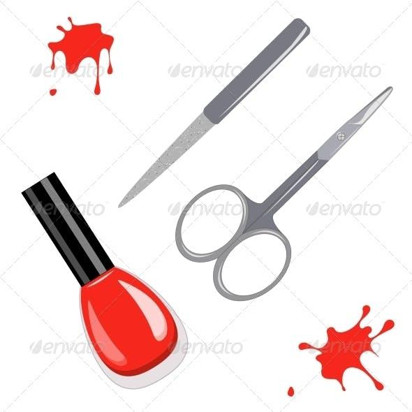 Manicure Set and Nail Polish