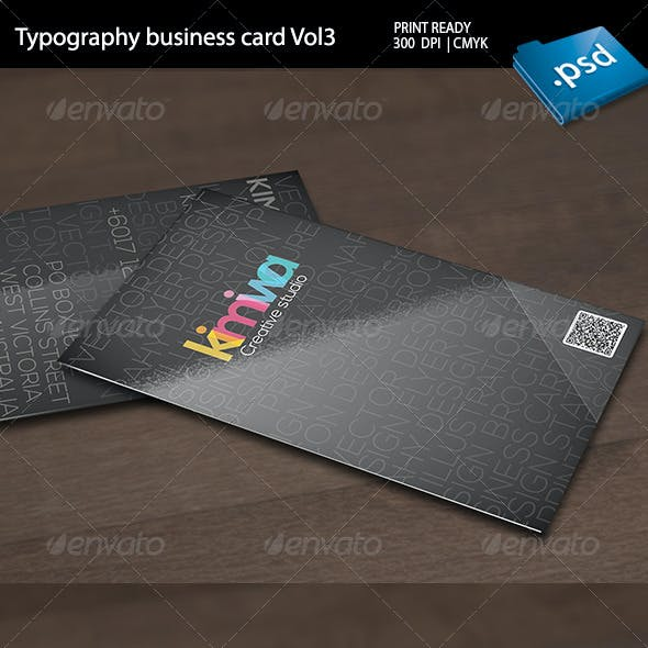 Typography Business Card Vol3