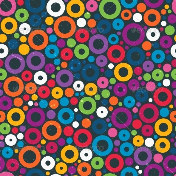 Colorful Seamless Pattern with Circles - Patterns Decorative