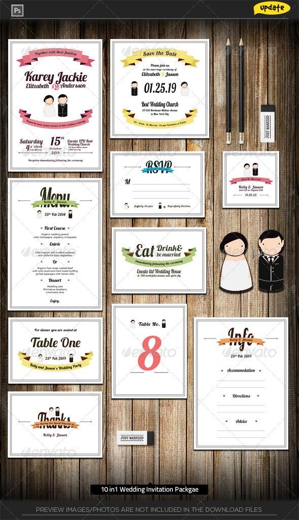 Wedding Package - Sweet Color Love - Weddings Cards & Invites