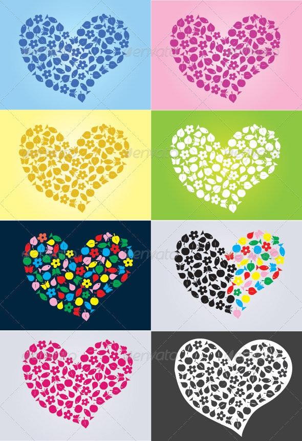 Love Nature - Conceptual Vectors