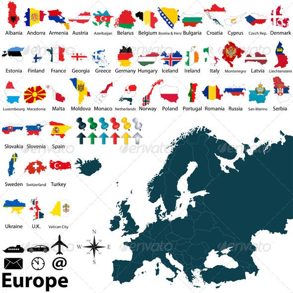 Political Maps of Europe