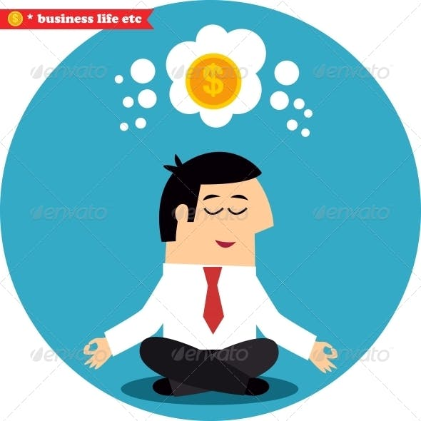 Manager Meditating on Money and Success