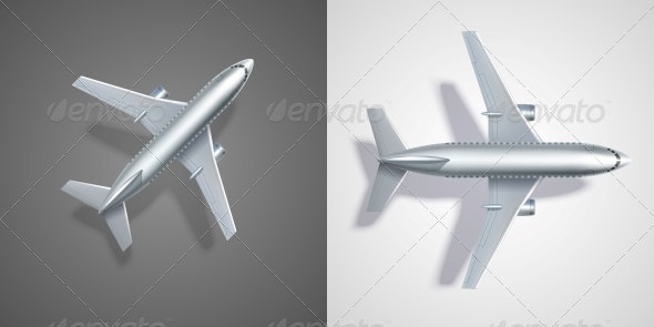 Flying Airplane Icons - Web Elements Vectors