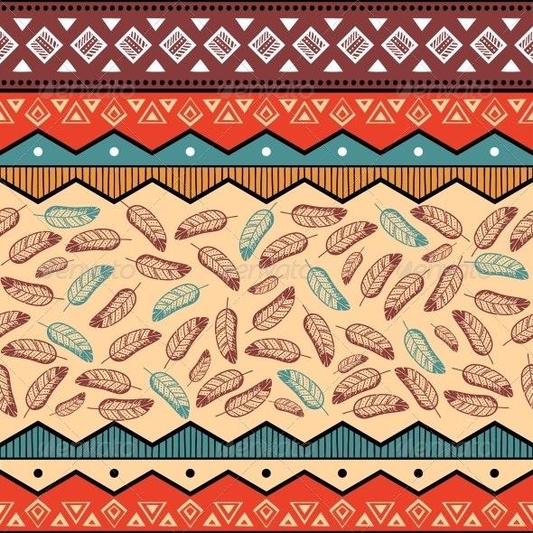 Ethnic Tribal Pattern Background - Backgrounds Decorative