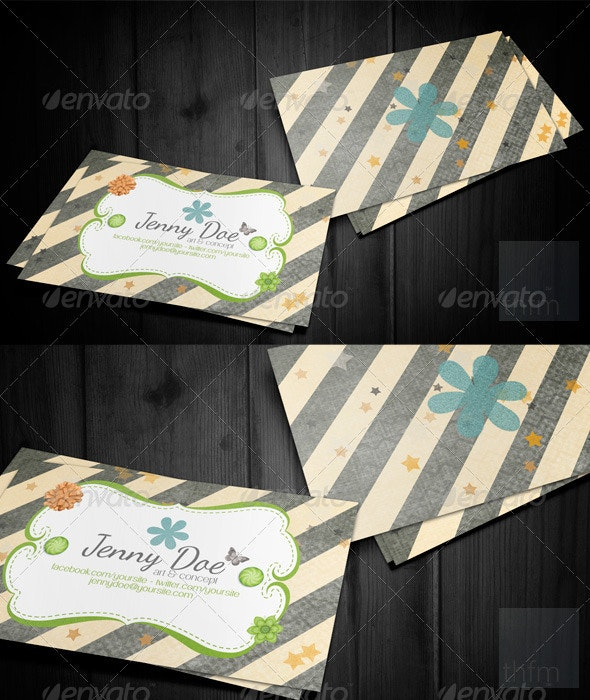 Craft Business and Visit Card - Creative Business Cards