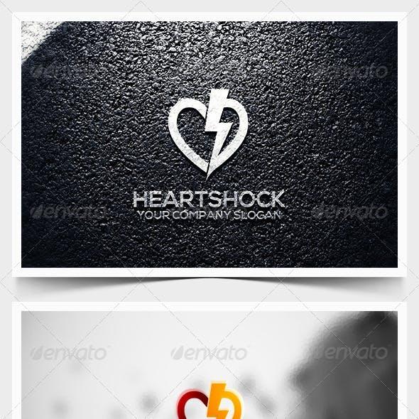 Heart Shock Logo Template