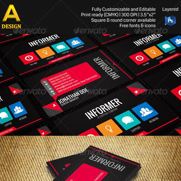 IT-Support Company Business Card AN0179