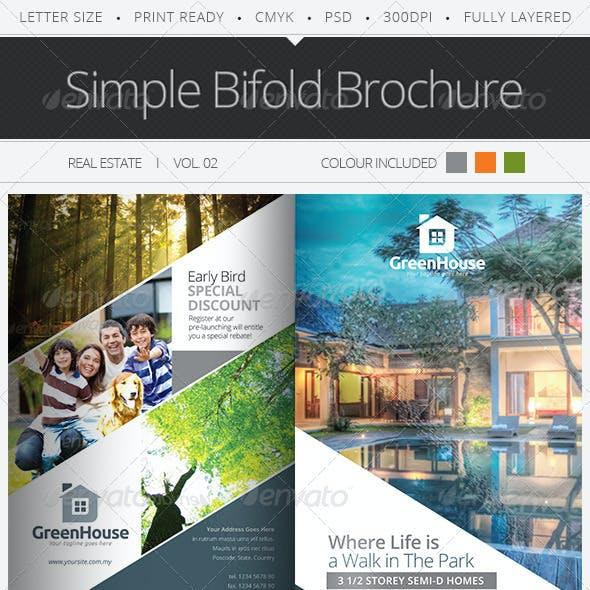 Simple Bifold Brochure Vol.02
