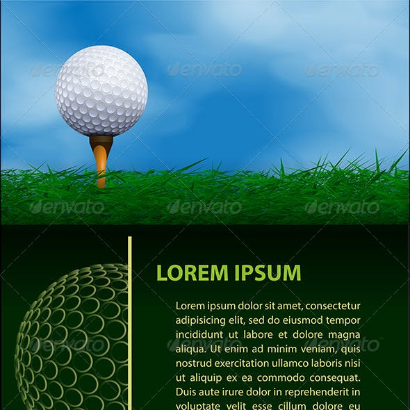 Golf Design Templates Set