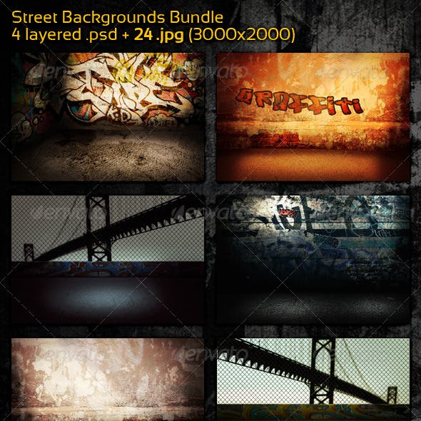 Street Backgrounds Bundle