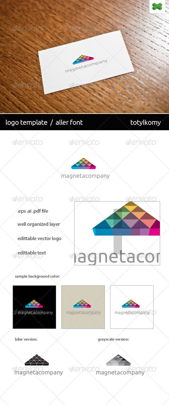 Magneta Logo Template - Vector Abstract