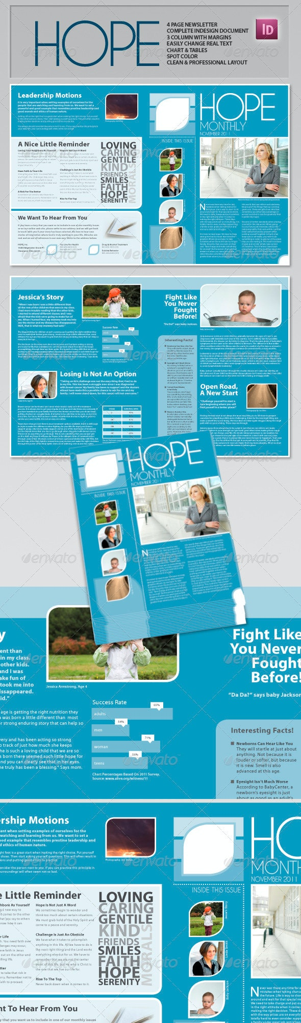 Hope - Clean Professional Newsletter - Newsletters Print Templates