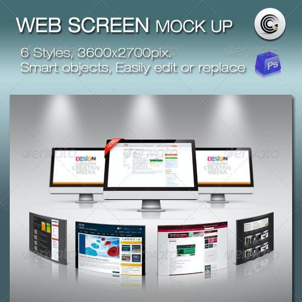 6 Styles Web Screen Mock-up