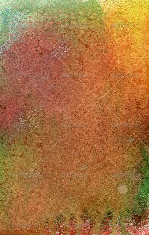 Handmade Salted Watercolor Texture - Abstract Textures
