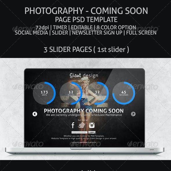 Photography - Coming Soon Page
