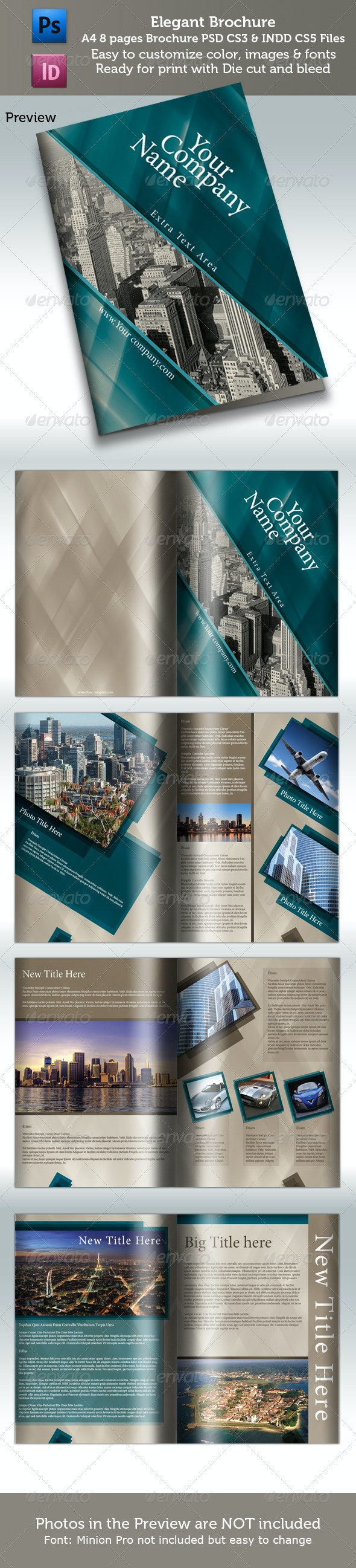 A4 Elegant Booklet 8 Pages - Corporate Brochures