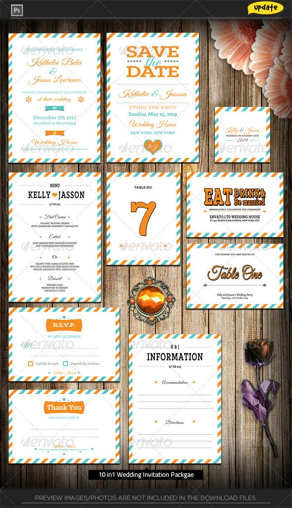 Wedding Invitation Package - Love Mail - Weddings Cards & Invites