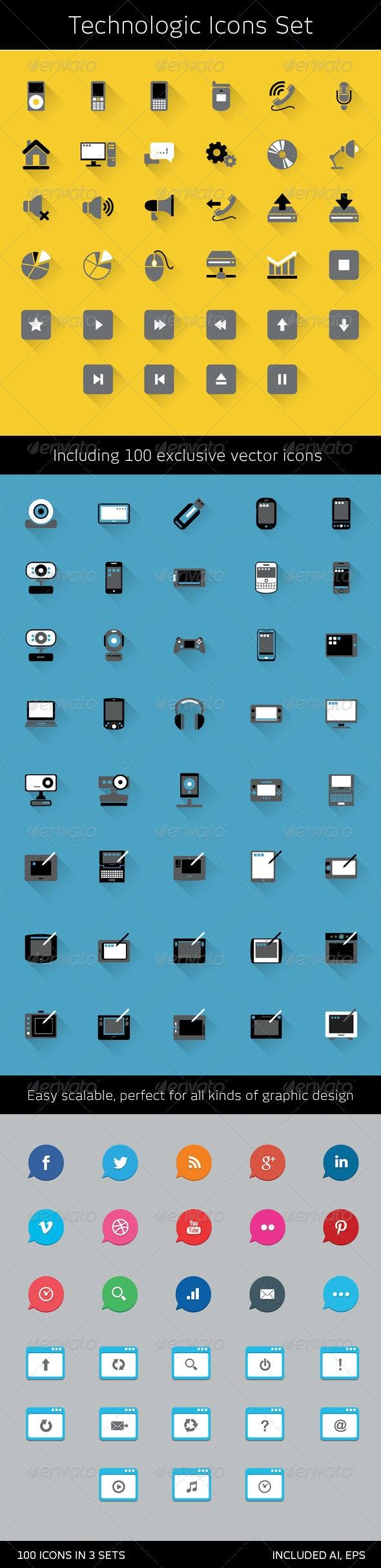 Technologic Icons Set