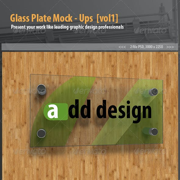 Glass plate mockups [vol1]