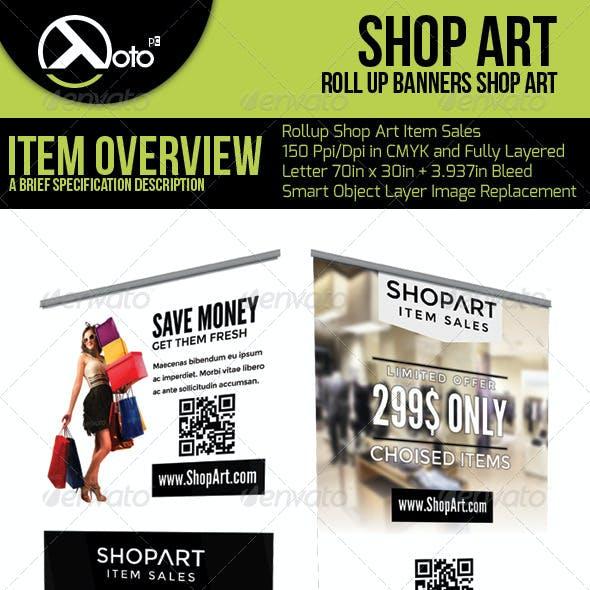Shop Art Roll Up Banners