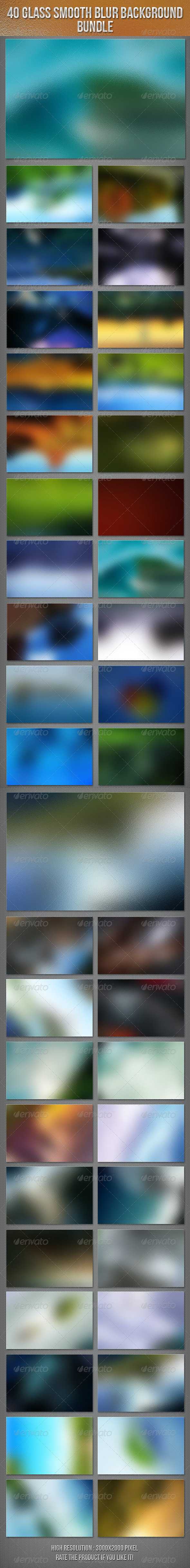 40 Glass Smooth Blur Background Bundle - Abstract Backgrounds