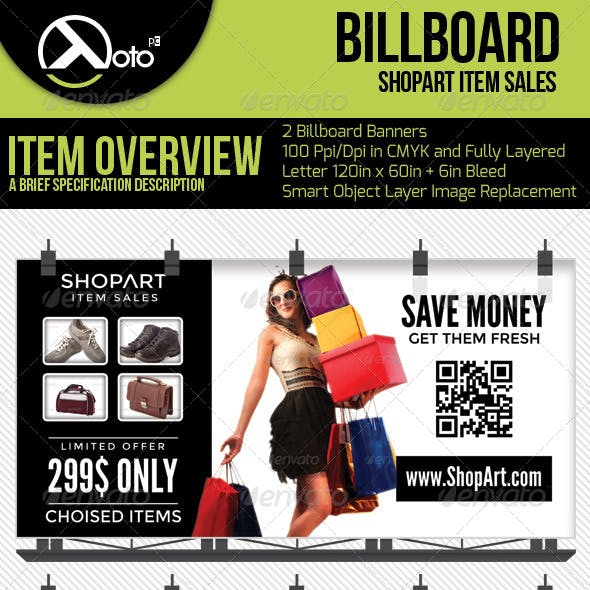 ShopArt Item Sales Billboard Banners