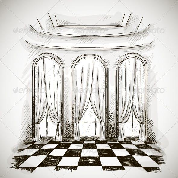 Sketch of Ballroom
