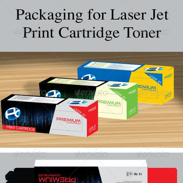 Packaging for Laser Jet Print Cartridge Toner