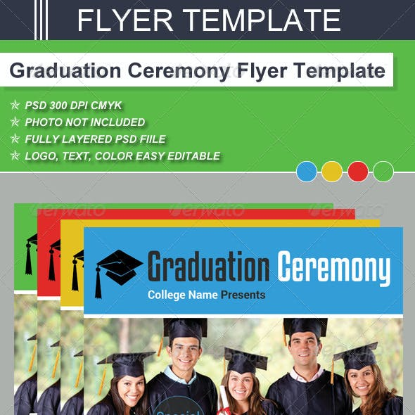 Graduation Ceremony Flyer Template