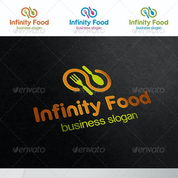 Infinity Food Restaurant Logo