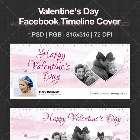 Happy Valentine Day Facebook Cover