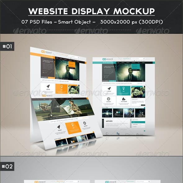Website Display Mockup