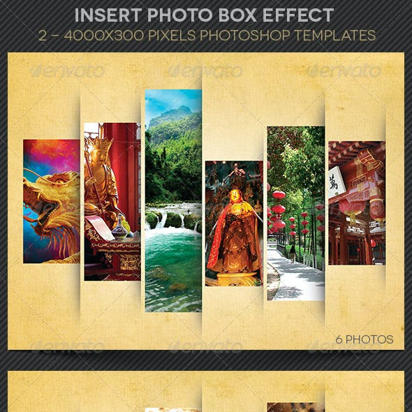 Insert Photo Box Effect Template