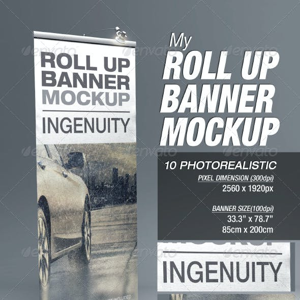 MyRoll Up Banner Mock-up