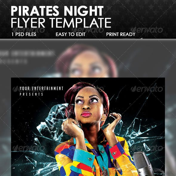 Pirate Night Live Flyer Template