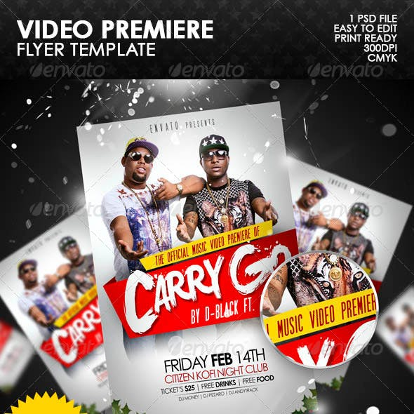 Video Premiere Flyer Template