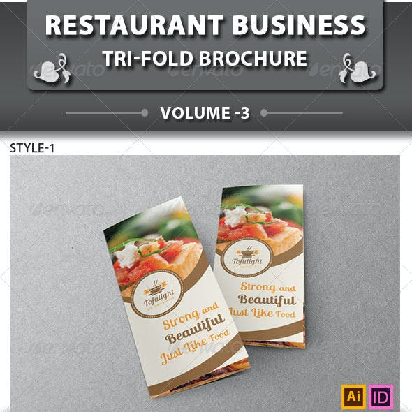 Restaurant Business Tri-fold Brochure | Volume 3