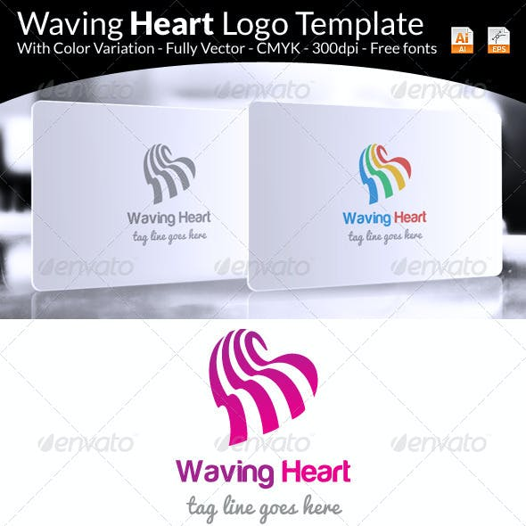 Waving Heart Logo