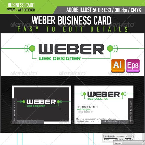 Weber Web Designer Business Card