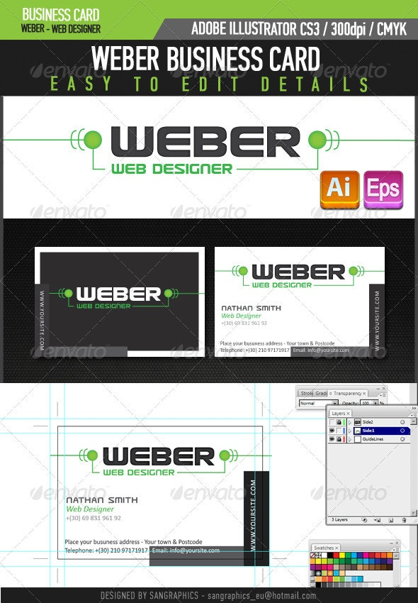 Weber Web Designer Business Card - Industry Specific Business Cards