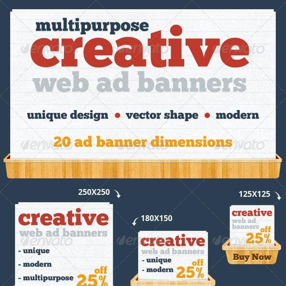 Creative & Unique Web Ad Banners - Multipurpose