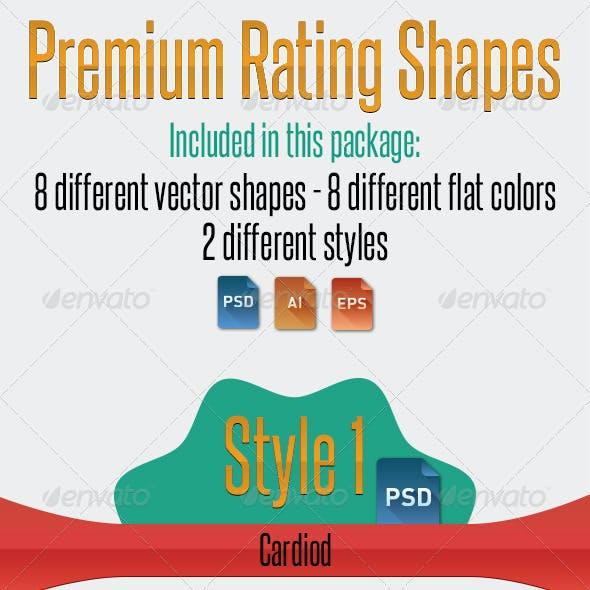 Premium Rating Shapes